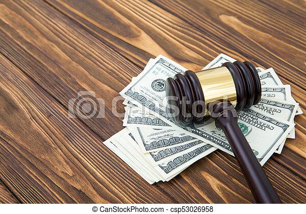 juge, marteau, argent - csp53026958