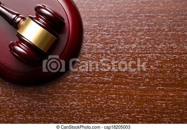 juge, marteau - csp18205003