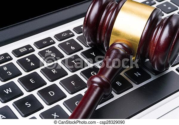 juge, marteau, clavier - csp28329090