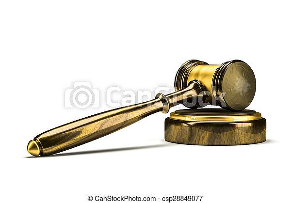 juge, marteau - csp28849077