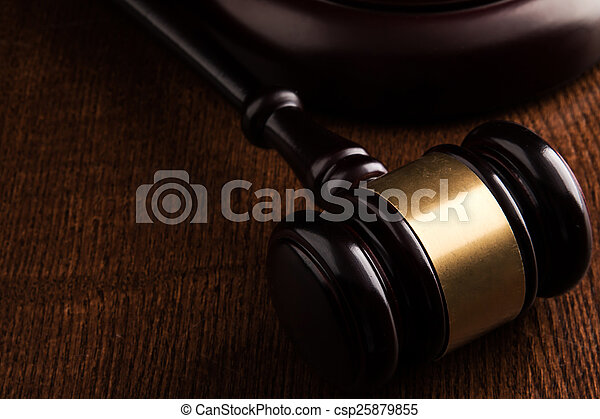 juge, marteau - csp25879855