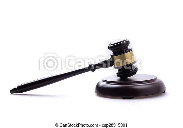 juge, marteau, isolé, fond - csp28315301