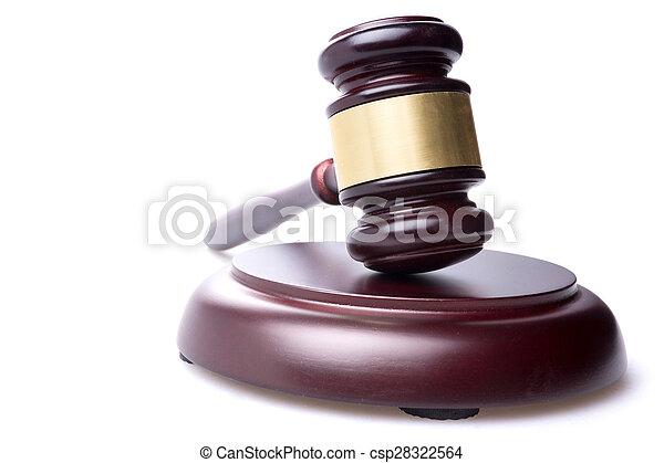 juge, marteau, isolé, fond - csp28322564