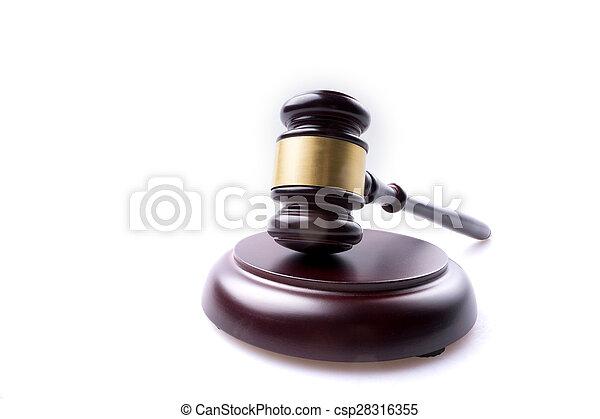 juge, marteau, isolé, fond - csp28316355