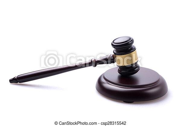juge, marteau, isolé, fond - csp28315542