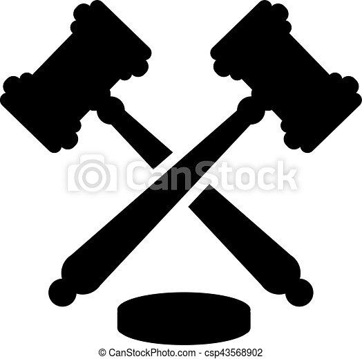 juge, marteau, justice - csp43568902