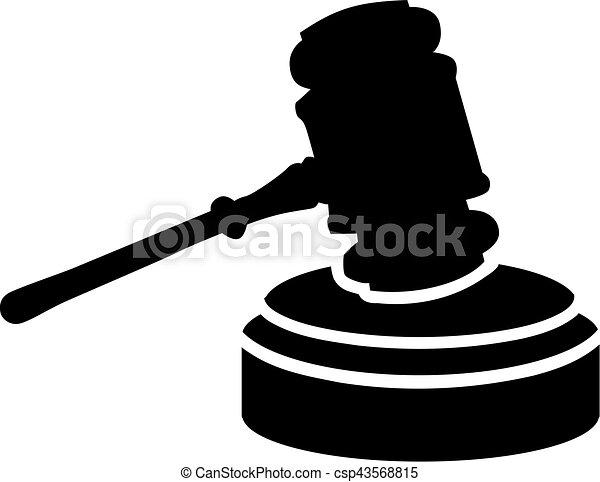 juge, marteau, justice - csp43568815