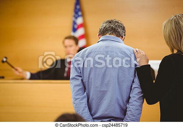 juge, marteau, sur, coup - csp24485719