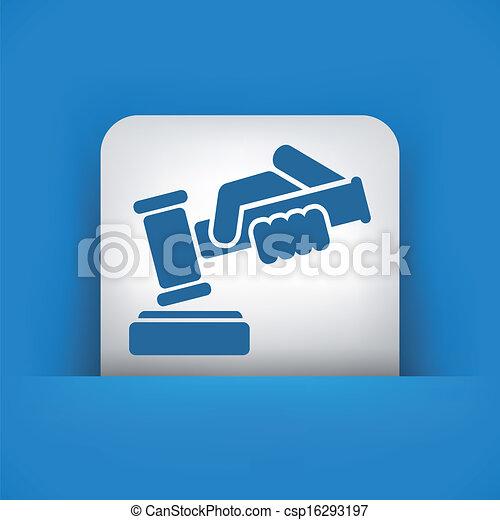 juge, martelez icône - csp16293197