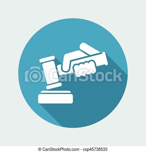 juge, martelez icône - csp45738533