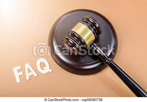 juge, questions fréquemment demandées, hammer. - csp58360738