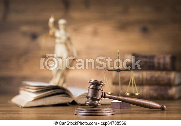 juge, thème, concept, marteau, maillet - csp64788566