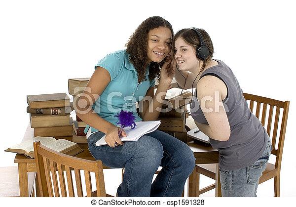 jugendlich, sitzung, studieren - csp1591328