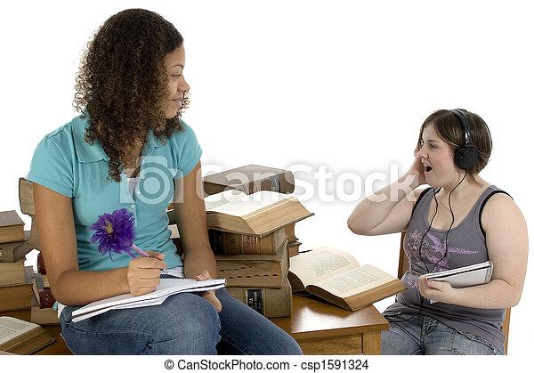 jugendlich, sitzung, studieren - csp1591324