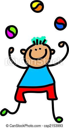 juggling boy - csp2153993