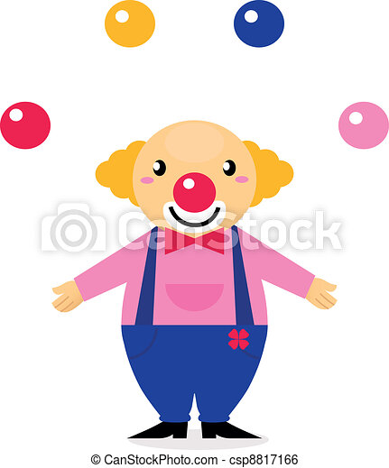 juggling colorful circus clown isolated on white funny clip art rh canstockphoto com free animated juggler clipart
