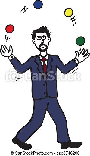 Juggling Man - csp8746200
