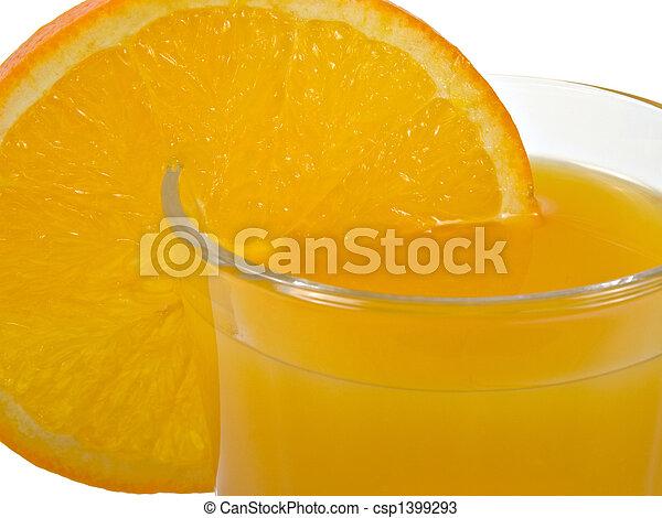 Jugo de naranja - csp1399293