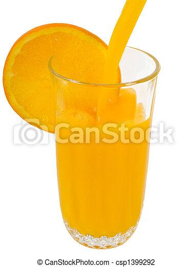 Jugo de naranja - csp1399292