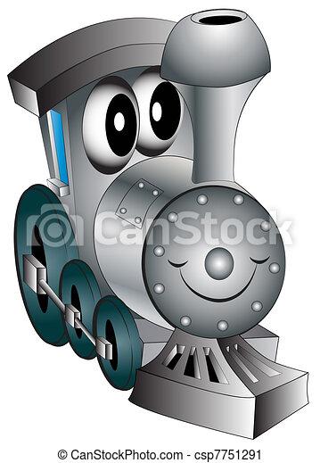 La locomotora de juguete - csp7751291