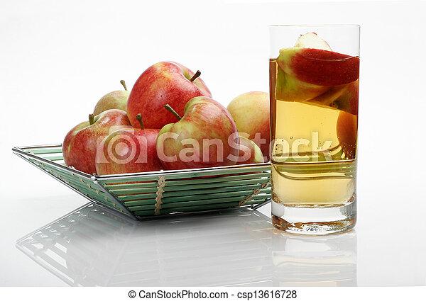 Juice & apples - csp13616728