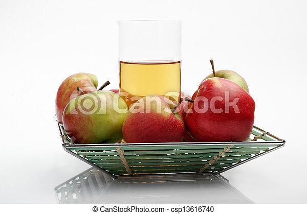Juice & apples - csp13616740