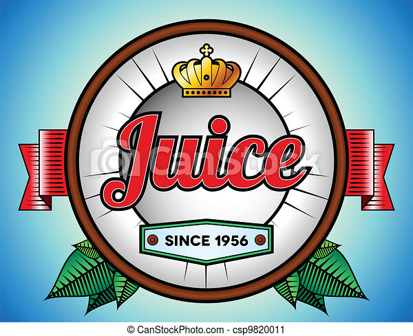 juice or soda label coconut juice or soda label template with crown