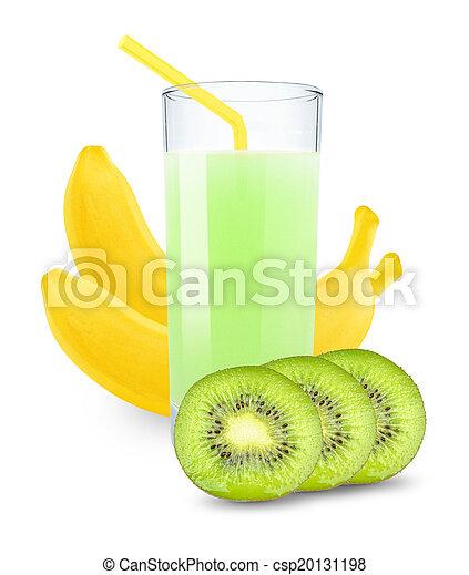 juice with kiwi and bananas - csp20131198