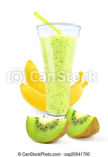 juice with kiwi and bananas - csp20541700