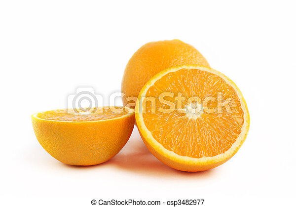 Juicy orange fruit - csp3482977