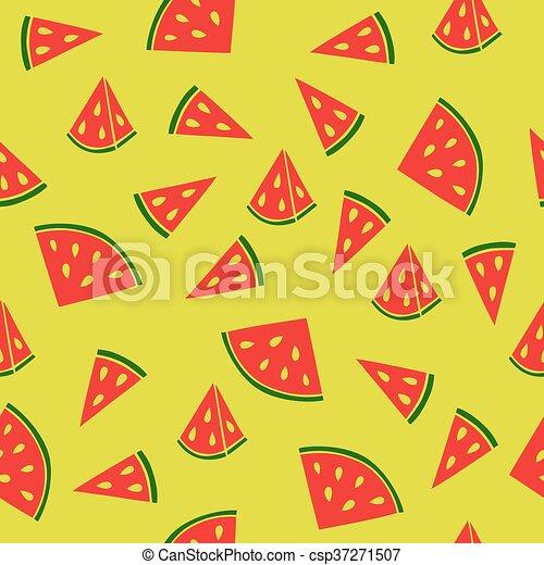 Juicy watermelon pattern - csp37271507