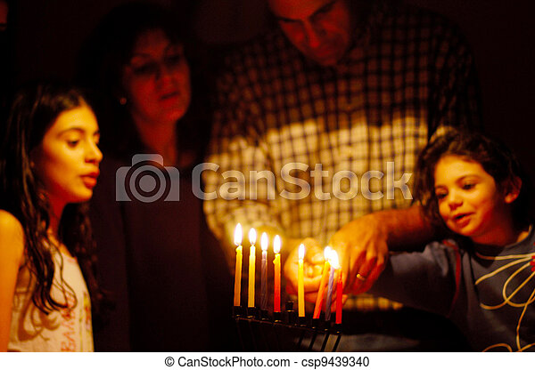 juif, fetes, hanukkah - csp9439340
