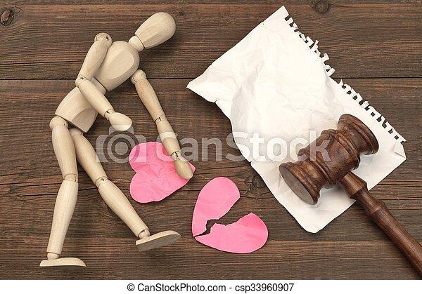 juizes, conceito, divórcio, court., livro, gavel, lei, gavel - csp33960907