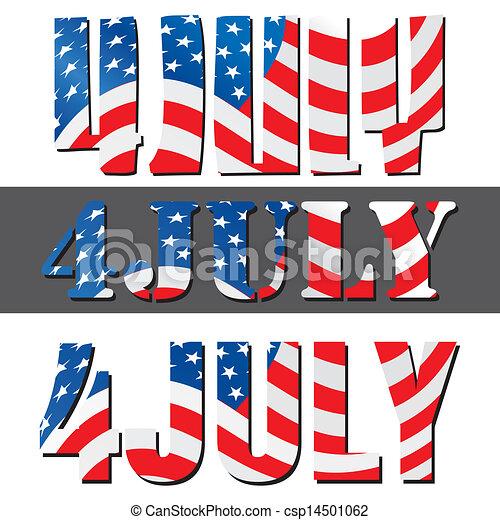 4. Juli, amerikanische Unabhängigkeitstag - csp14501062