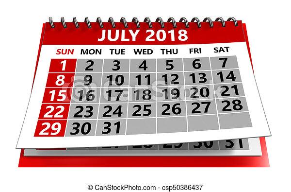 july 2018 calendar csp50386437