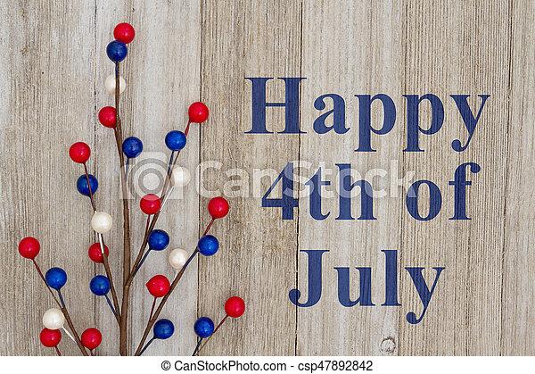 july 4, köszönés, boldog - csp47892842