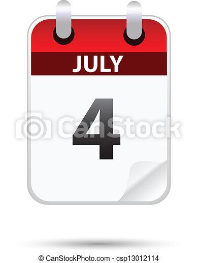 july 4 on calendar - csp13012114
