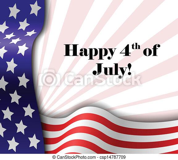 July 4 patriotic text frame - csp14787709