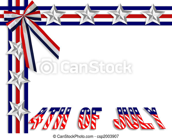 July 4Th background border - csp2003907