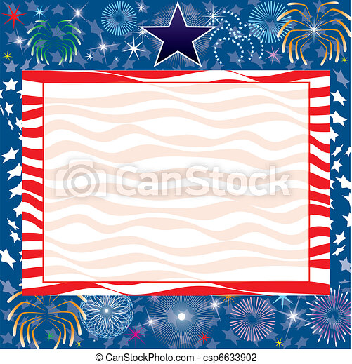 July 4th Background - csp6633902