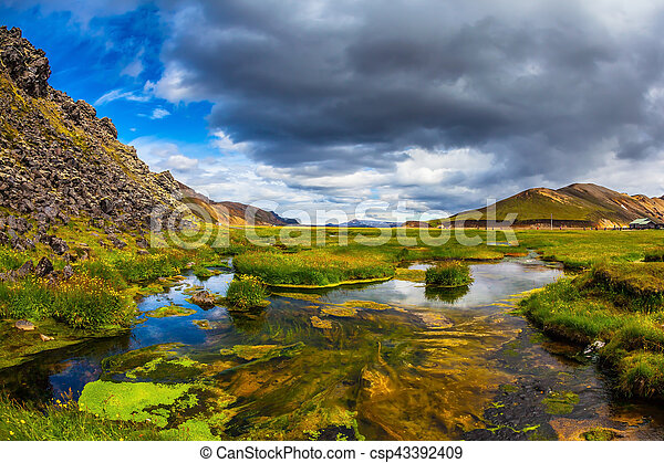 July in Iceland - csp43392409