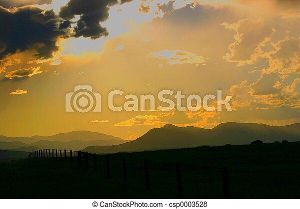 July Sunset - csp0003528