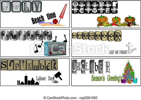 JULY TO DECEMBER BANNERS - csp5261650
