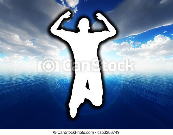 Jump For Joy - csp3286749