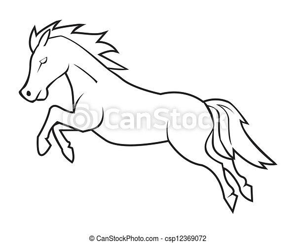 jump horse - csp12369072
