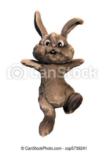 Jumping Easter Bunny Stock Illustration