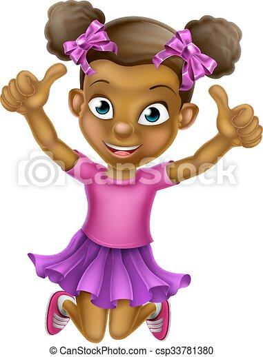 Jumping Girl b 2015 tu F5 - csp33781380