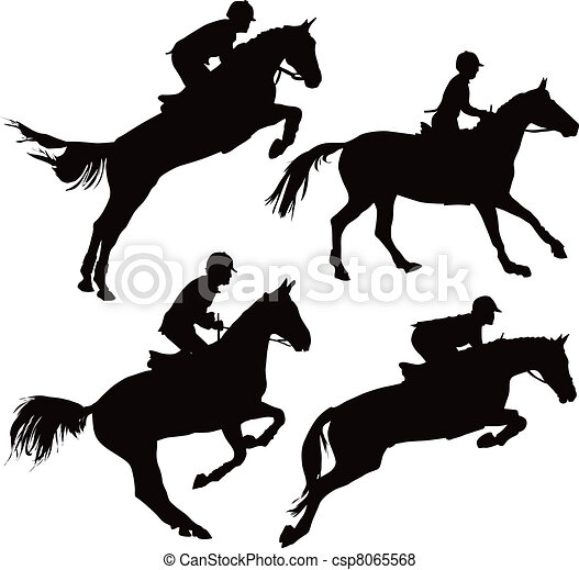 Jumping horses with riders - csp8065568