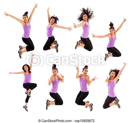 Jumping Montage - csp15829872