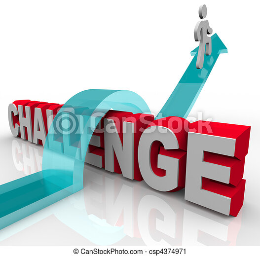 Jumping Over a Challenge to Achieve Success - csp4374971